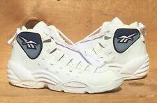 Vintage 1997 Reebok Drifter Basketball Rare White on White Size 10.5 Read Ad