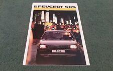 1986 PEUGEOT 505 SALOON UK BROCHURE GR GRD SR SRD TURBO GTi GTD TURBO Stamp