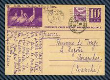 -= SUISSE - Entier postal de FRIBOURG pour AVRANCHES (Manche) - 1939 =-