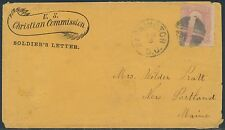 #65 ON U.S. CHRISTIAN COMMISSION SOLDIER'S LETTER COVER BR8811
