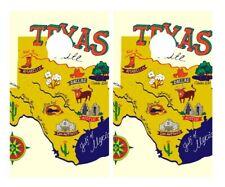 Illustrated State Texas Cornhole Board Vinyl Decal Wrap Sticker Skin Funny Joke
