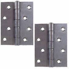 "PAIR 4"" SATIN CHROME STEEL BUTT HINGES Heavy Duty Internal Door 100mm x 65mm"
