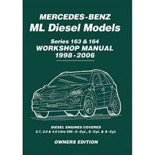Mercedes ML ML270 ML280 ML400 Diesel 163 & 164 1998-2006 Workshop Manual mbldwh