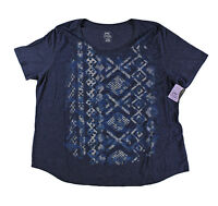 Plus Size Woman Navy Tee Shirt Top Tshirt Nwt 4X 5X Casual Just My Size JMS NWT