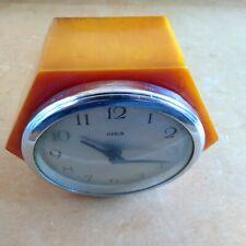 Goblin Electric Clock Amber Butterscotch Art Deco Vintage Bakelite lot b2
