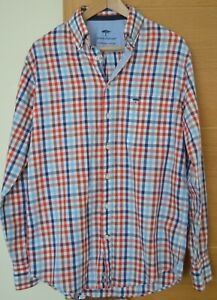 Fynch-Hatton Red/Blue/White Check Shirt M 39/40 Excellent Condition