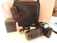 Canon 35mm T70 Multiple Pogram AE Film Camera Flash Case Tokina 35-135mm Lens NM