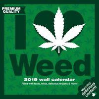 2019 I Love Weed 2019 Wall Calendar,  by NMR Calendars