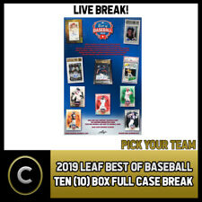 2019 LEAF BEST OF BASEBALL 10 BOX (FULL CASE) BREAK #A552 - PICK YOUR TEAM