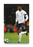 FAINT Marcus Rashford Signed 6x4 Photo Manchester United England Autograph + COA