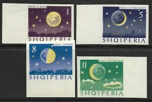 STAMPS-ALBANIA. 1964. The Moons Phases Imperf  Set. SG: 828/31 var. MNH.
