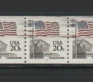 US EFO ERROR Stamps: #1895 Flag, Court. PS6 #10 with destruction mark!