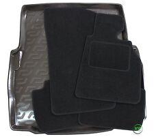 BMW 3 SERIE E46 SALOON 1998-2005 Tailored black floor car mats + boot tray mat