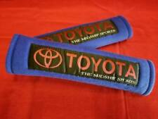 2X UNIVERSAL BLUE SEAT BELT HARNESS SHOULDER PADS COVER PAIR CAR TOYOTA TRD NEW