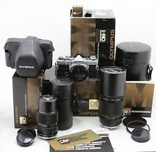 vintage Olympus OM-1 & 2x OM Zuiko lens: Auto T 300 mm & Zoom 75-150mm & extra's