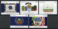 St Kitts Royalty Stamps 2012 MNH Diamond Jubilee Queen Elizabeth II 5v Set