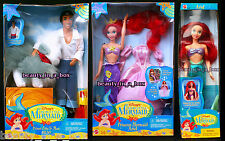 Princess Mermaid Ariel Prince Eric and Max Little Swimsuit Disney Doll ~ DENTED