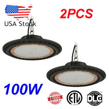 2Pcs 100W Ufo Led High Bay Light Cold White Home Warehouse Shop Flood Ip65