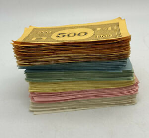Monopoly 1961 Lot of PAPER MONEY Bank Replacement Currency Vintage Parker Bros
