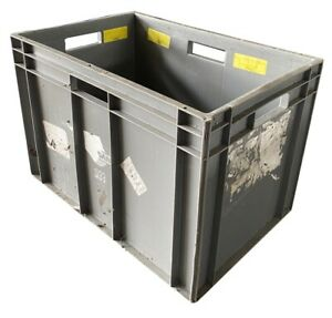 USED 75 Litre Euro Plastic Industrial Warehouse Stacking Container Storage Boxes