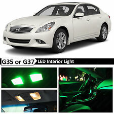 16x Green Interior LED Lights Package for 2007-2014 G35 G37 Coupe Sedan
