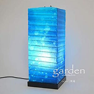 SAIKO DESIGN Japanese Floor Light Blue Washi Japanese Paper Made in Japan NEW