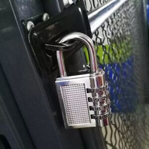 Padlock 4 Digit Combination Strong Durability Convenient for Gym Shed Gate Door