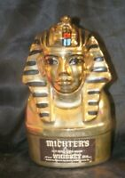 King Tut Michter's 1978 Decanter 23K Gold Tutankhamun Bottle Vintage