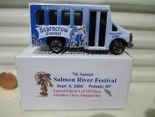 Matchbox 2006 7TH SALMON RIVER FESTIVAL PULASKI NY Chevrolet Transport Bus NuBxd