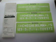 Berol RapiDesign R-950 Neo-Gothic Lettering Set 1/2 5/8 3/4 Template Drafting
