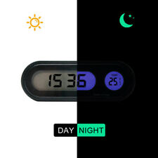 Car Auto Digital LCD Electronic Time Clock Thermometer Watch With Backlight 12V