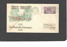 #783 3c OREGON TERRITORY FDC-WALLA WALLA,WASH JUL 14-1936 PLIMPTON CACHET