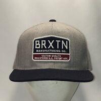 Brxtn Snapback Hat Gray Navy Blue Baseball Cap Cool Dad Hats For Men T63 N8093