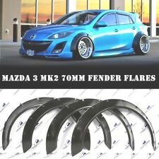 MAZDA 3 Fender Flares WHEEL Arches Extensions Wide Body Kit Black 70mm set OF 4
