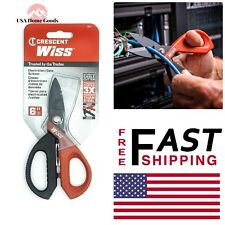 WISS Electrician/Data Scissor Titanium Coated Steel Blades Durable Cable Cutter