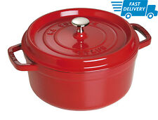 Staub Cast Iron Round Cocotte, 24Cm - Cherry  Free and Fast delivery