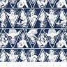 Warner Brothers Wonder Woman Triangles in Navy 100% cotton fabric by the yard