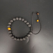 Fashion Black Natural Lava Stone Beaded Bracelet Unisex Jewelry Women Man Gifts