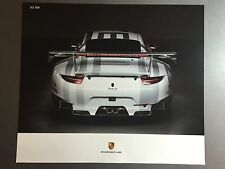 2016 Porsche 911 RSR Coupe Showroom Advertising Poster RARE!! Awesome L@@K