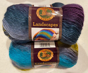 Lion Brand Yarn 545-216 Landscapes Yarn Perfect Storm Lot of 3 skeins New