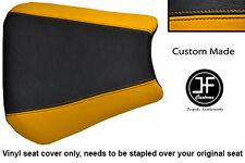 Vinilo Negro y Amarillo Personalizado se ajusta a Honda CBR 600 F 01-03 Cubierta de asiento solamente