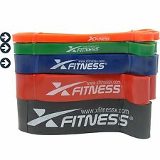 xFitness Pull Up Assist Resistance Bands For CrossFit - #1 #2 #3 Set, 10-80 lbs