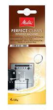 Melitta PERFECT CLEAN Reinigungstabletten für Kaffeevollautomaten - 4x1,8g