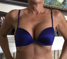 Pink Victoria Secret Blue Sexy Straps Push Up Lace Bra 34 A