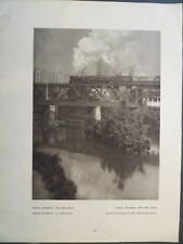 Train Bridge James River Richmond Virginia 1927 Edward Hoppe Photogravure