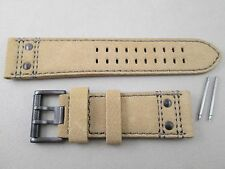 Genuine Luminox 26mm Atacama 1880 1890 tan suede leather watch band strap