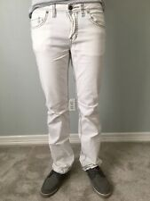BUFFALO David Bitton Ash-X Slim Paint Splatter White Jeans Pants MSRP $109 32x32