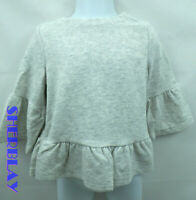 Crazy 8 Toddler Girl Size 2T Grey Sweater Blouse With Flared Arms NWT