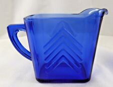 VINTAGE~ COLBALT BLUE~DEPRESSION GLASS MILK PITCHER~