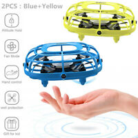 2PCS UDIRC Flying Ball Drone for Kids Hand Operated Mini Drone Toy with Fan Mode
